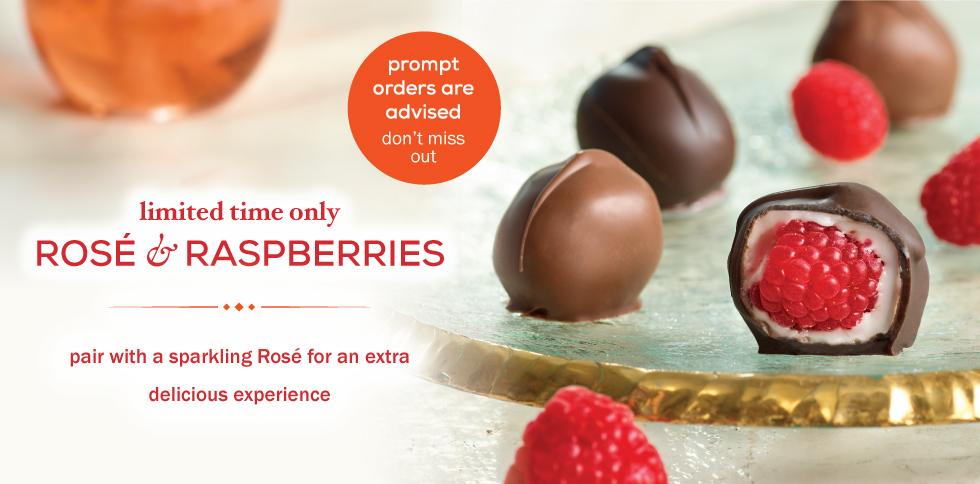 Fresh Chocolate Covered Raspberries