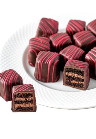 Red Velvet Cake Petits Fours