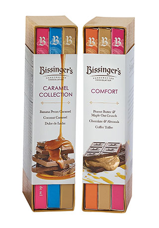 Chocolate Bar Flight Gift Sets - Caramel Collection Flight