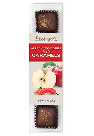 Apple Ghost Chili Salt Caramels