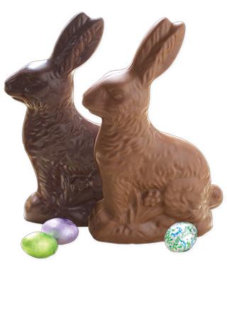 12 oz. Solid Chocolate Bunnies