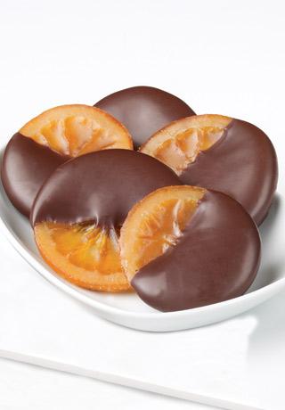 Glacéed Oranges au Chocolat