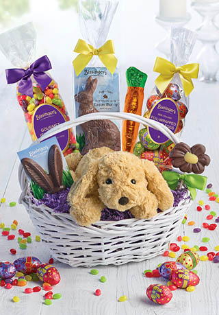 Easter baskets bissingers handcrafted chocolatier happy easter gift basket negle Choice Image