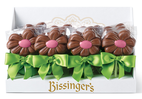 Milk Chocolate Pink Daisy Lollipops (Set of 20)