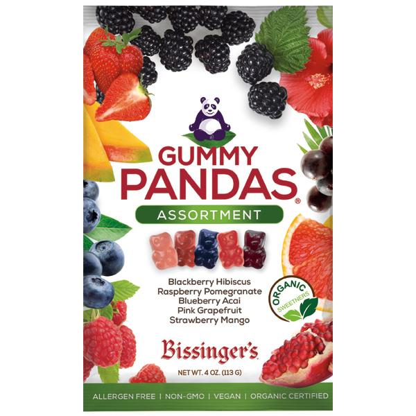 NEW! Assorted Vegan Gummy Pandas 4 OZ