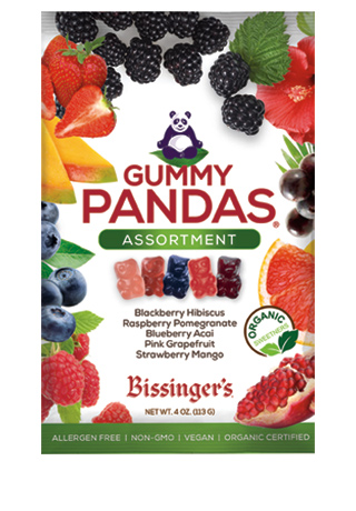 NEW! Assorted Vegan Gummy Pandas 4 OZ