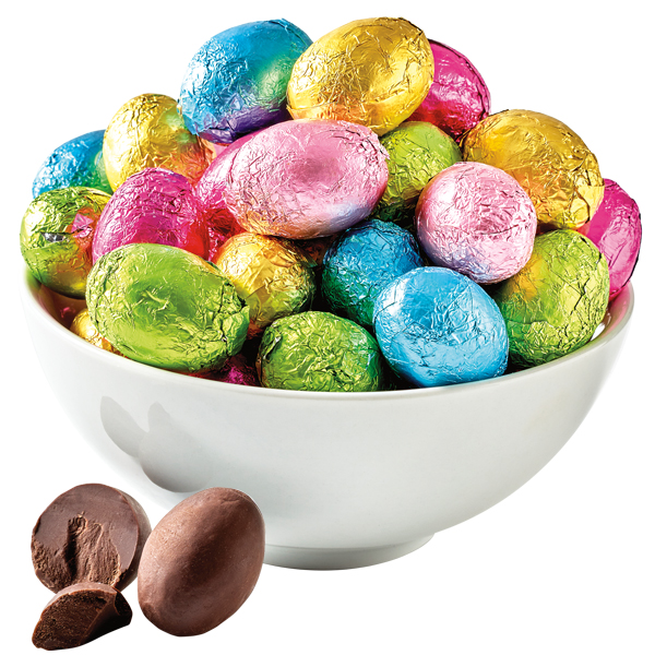 Dark Chocolate Solid Foil Eggs - 1 LB