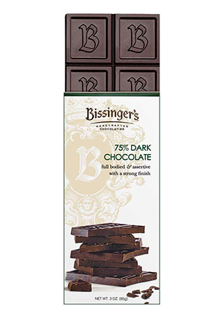 75% Dark Chocolate - 3 OZ Bar