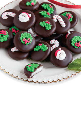 Hand-Decorated Holiday Mints