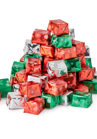 Solid Chocolate Christmas Presents 1 LB