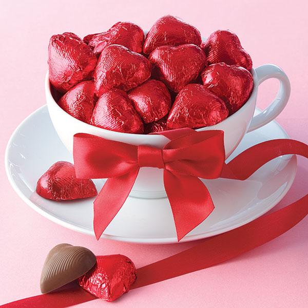 European Solid Chocolate Hearts
