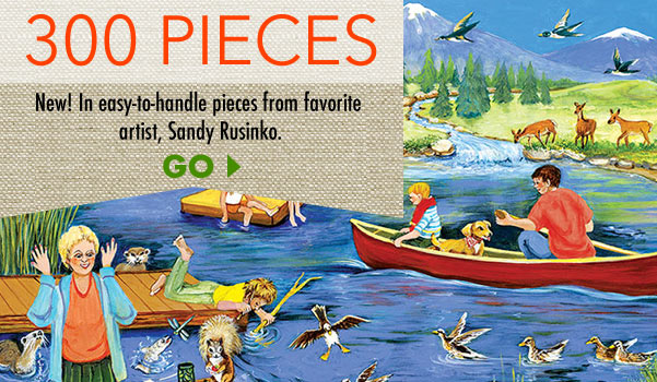 Family Fun At The Lake 300 Large Piece Jigsaw Puzzle