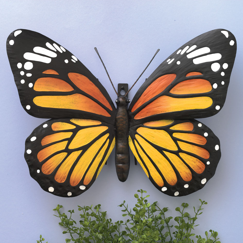 Metal Monarch Butterfly Wall Art | Bits and Pieces