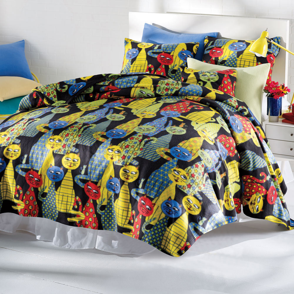 Krazy Katz Fleece Blanket Bits And Pieces