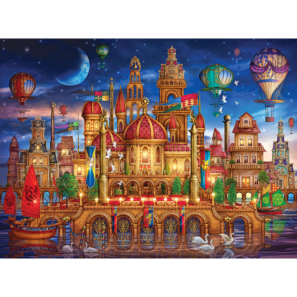 Downtown 1000 Piece Holographic Jigsaw Puzzle   Bits and ...