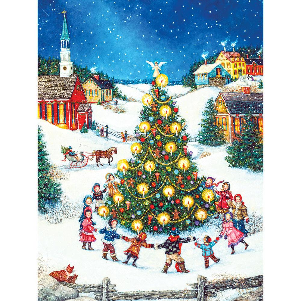 Large Christmas Tree: Dancing Around The Christmas Tree 300 Large Piece Jigsaw