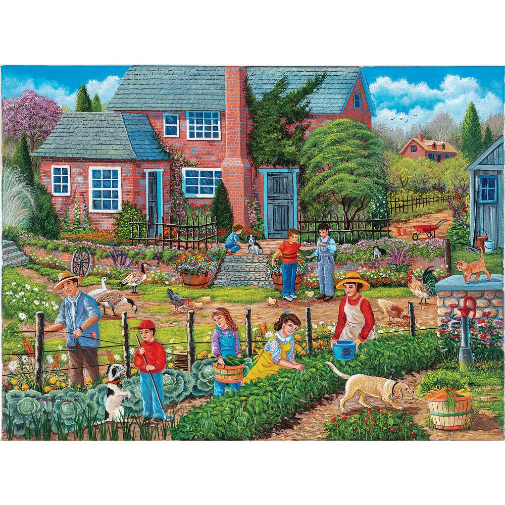 Neighbors Helping Neighbors 500 Piece Jigsaw Puzzle | Bits ...