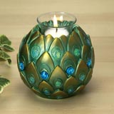 Peacock Feathers Tea Light