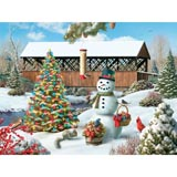 quick view countryside christmas 1000 piece jigsaw puzzle