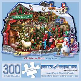 Christmas Barn 300 Large Piece Shaped Jigsaw Puzzle
