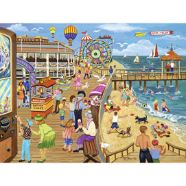 Ice Cream on the Boardwalk 300 Large Piece Jigsaw Puzzle