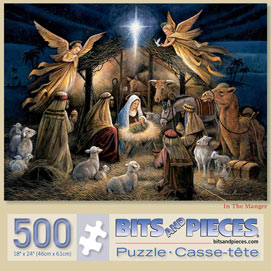 In the Manger 500 Piece Jigsaw Puzzle