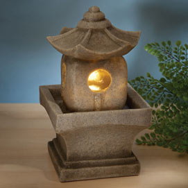Asian Pagoda LED Fountain