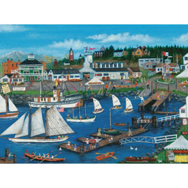 Port Townsend Wooden Boats 1000 Piece Jigsaw Puzzle