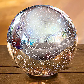 Spectacular Illuminated Mercury Glass Ball