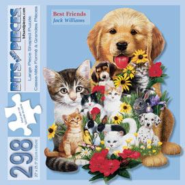Best Friends 300 Large Piece Shaped Jigsaw Puzzle