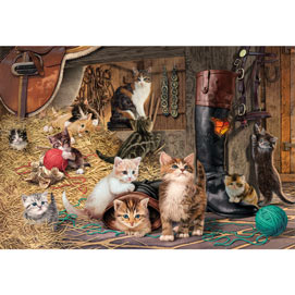 Kitten Capers 300 Large Piece Jigsaw Puzzle