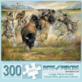 Guiding The Herd 300 Large Piece Jigsaw Puzzle