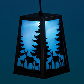 Color Changing Woodland Deer Lantern