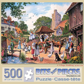 A Village Wedding 500 Piece Jigsaw Puzzle