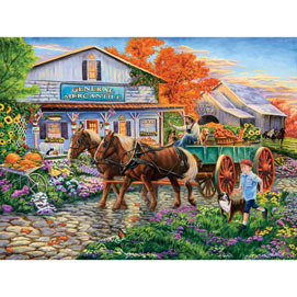 Bringing in the Harvest 500 Piece Jigsaw Puzzle