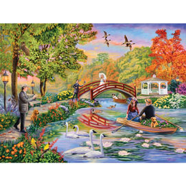 Autumn on the Pond 500 Piece Jigsaw Puzzle