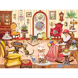 Grandma's Cat Nap 500 Piece Jigsaw Puzzle