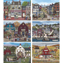 Set of 6: Sharon Ascherl 1000 Piece Jigsaw Puzzles