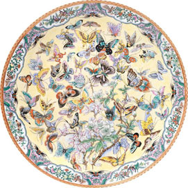 99 Butterflies 300 Large Piece Round Jigsaw Puzzle