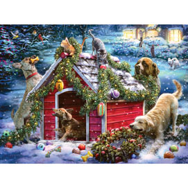 Helping With The Decorations 300 Large Piece Jigsaw Puzzle