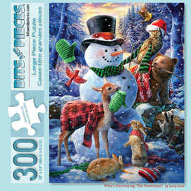 Who's Decorating The Snowman? 300 Large Piece Jigsaw Puzzle