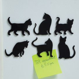 Cat Silhouette Magnet Set