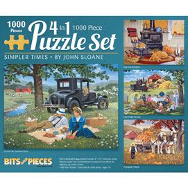 Simpler Times 1000 Piece 4-in-1 John Sloane Multi-pack Set