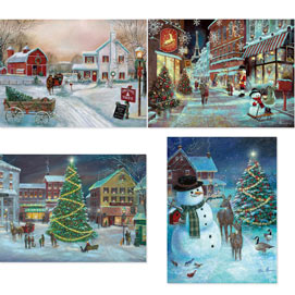 Set of 4: Ruane Manning 1000 Piece Jigsaw Puzzle