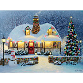 Candlelight Christmas 300 Large Piece Jigsaw Puzzle