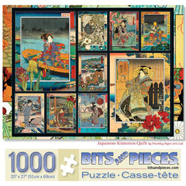 Japanese Kimonos Quilt 1000 Piece Jigsaw Puzzle