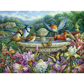 Summer Garden Birds 500 Piece Jigsaw Puzzle