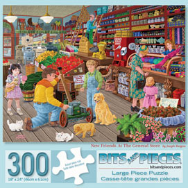 New Friends At The General Store 300 Large Piece Jigsaw Puzzle