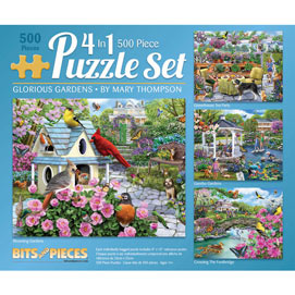 Mary Thompson 4-in-1 Multi-Pack 500 Piece Puzzle Set