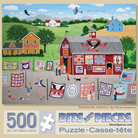 Patchwork America 500 Piece Jigsaw Puzzle
